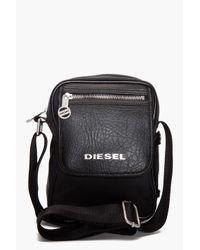 DIESEL Black Fellow Bag for men