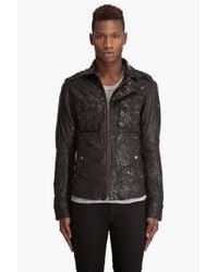 DIESEL - Black Loon Leather Jacket for Men - Lyst