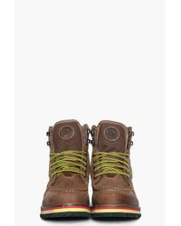 DIESEL Brown Awol Boots for men