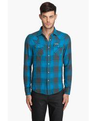 DIESEL | Blue Solor Shirt for Men | Lyst