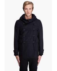 J.Lindeberg | Blue Fielding Compact Melton Coat for Men | Lyst