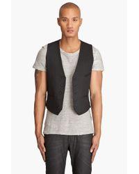 Nudie Jeans | Pal Dry Black Coated Vest for Men | Lyst