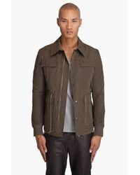 Robert Geller - Natural Field Jacket for Men - Lyst