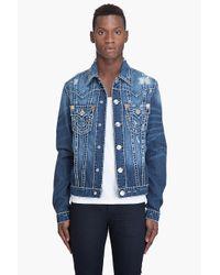 True Religion | Blue Jimmy Super T Jacket for Men | Lyst