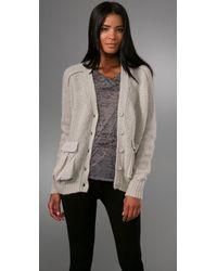 Acne | Natural Beryl Patch Silk-back Fine-knit Cardigan | Lyst