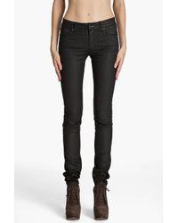 Acne Studios Black Kex Pleather Jeans