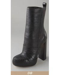 Alexander Wang Black Tasha Bandage Leather Boots