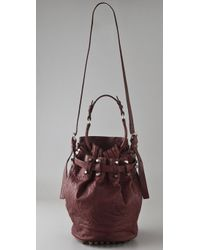 Alexander Wang Red Diego Leather Bucket Bag