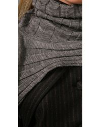 Alexander Wang | Gray Cropped Turtleneck Shrug | Lyst