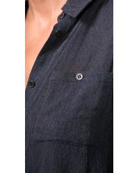 Alexander Wang - Purple Slender Dress Shirt with Raglan Sleeves - Lyst
