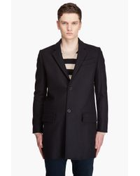 A.P.C. | Blue Wool Pea Coat for Men | Lyst