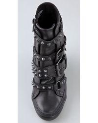 Ash - Black Madonna Wedge Sneakers - Lyst