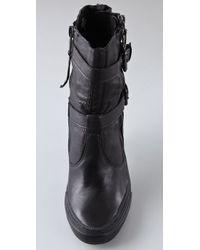 Ash | Black Penny High Heel Sneaker Booties | Lyst