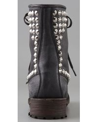 Ash | Black Studded Leather Ralf Lace-up Boots | Lyst