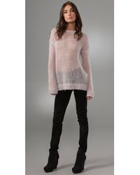 By Malene Birger - Pink Baquilla Mohair Sweater - Lyst