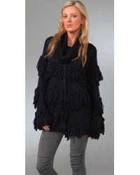 Camilla & Marc Blue Knitted Wool-blend Cardigan