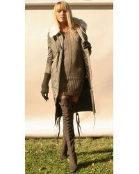 Camilla Skovgaard Gray Over The Knee Wedge Boots
