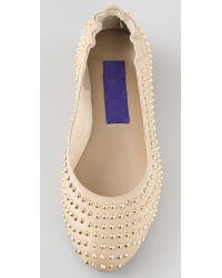 Charlie My Love Natural Chromeo Stud Flats