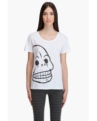 Cheap Monday | White Carolina Skull T-shirt | Lyst
