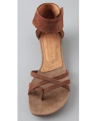 Chie Mihara - Brown Jilito Suede Flat Sandals - Lyst