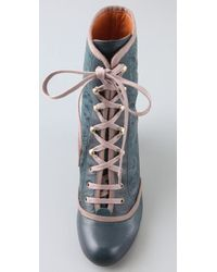 Chie Mihara | Blue Lunera Laser Cut Booties | Lyst