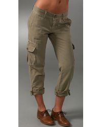 Current/Elliott | Green The Slouchy Skinny Cargo Pant | Lyst