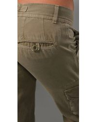 Current/Elliott - Green The Slouchy Skinny Cargo Pant - Lyst