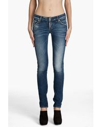 DSquared² | Blue Super Skinny Low Rise Jeans | Lyst