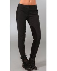 Elizabeth and James | Gray Suede Panel Pants | Lyst