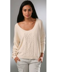 Free People | White Cable Tree Cropped Pullover | Lyst