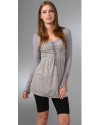 Free People | Gray Disco Polo Tunic | Lyst