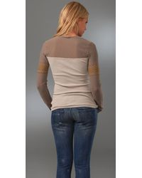 Free People - Natural We The Free Lace Rocker Thermal - Lyst