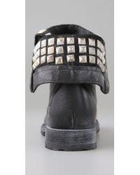 Frye | Black Rogan Studded Combat Boots | Lyst