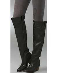 Frye Black Taylor Over The Knee Boots