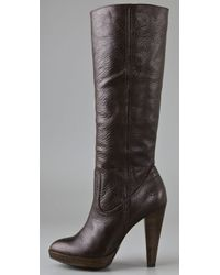 Frye Brown Harlow Campus Boots