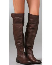 Frye Brown Shirley Over The Knee Boot