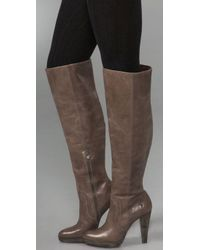 Frye Natural Harlow Over The Knee Boots