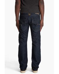 G-Star RAW - Blue Victor Straight Jeans for Men - Lyst