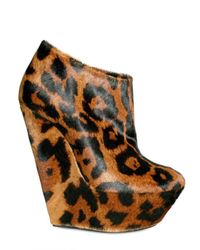 Giuseppe Zanotti | Multicolor 150mm Printed Leopard Low Boot Wedges | Lyst
