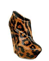 Giuseppe Zanotti - Multicolor 150mm Printed Leopard Low Boot Wedges - Lyst
