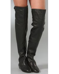 Giuseppe Zanotti Black Over-the-knee Flat Boots