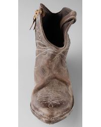 Golden Goose Deluxe Brand - Brown Star Zip Very Distressed Ankle Boots - Lyst