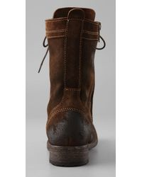 H by Hudson Brown Dot Combat Boots