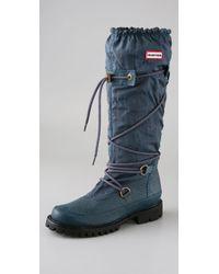 HUNTER Blue Summit Waterproof Boots