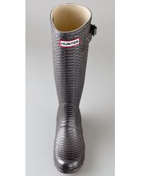 HUNTER Carnaby Collection Metallic Boa Boots