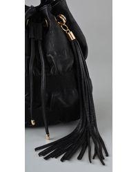 Jenny Bird | Black Ruched Bucket Bag | Lyst