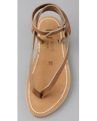 K. Jacques | Natural Delta Thong Sandals | Lyst