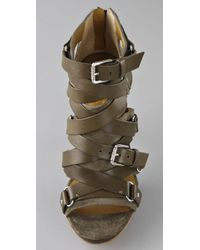 Kors by Michael Kors Green Bixby Suede High Heel Sandals