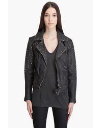 Larok | Black Distressed Rocker Moto Jacket | Lyst