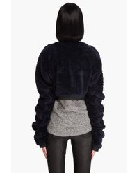 Les Chiffoniers | Blue Teddy Bear Cropped Sweater | Lyst